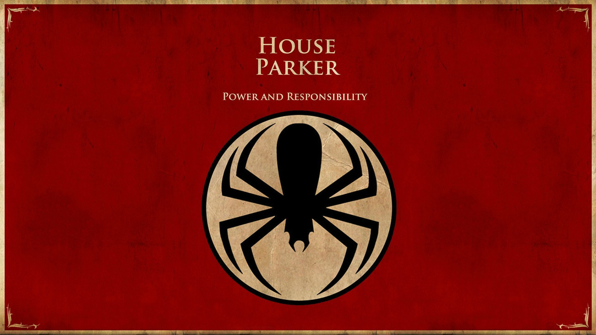 house parker game of thrones spiderman wallpaper