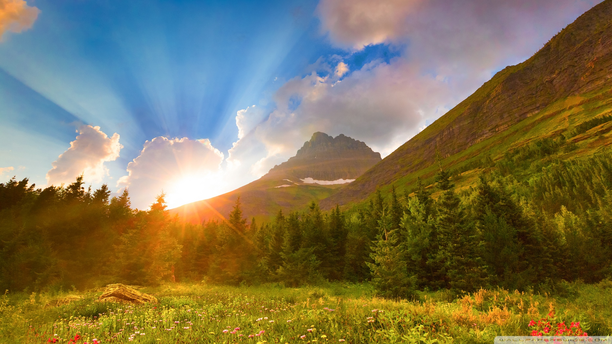 beautiful mountains sunrise wallpaper - photo #23
