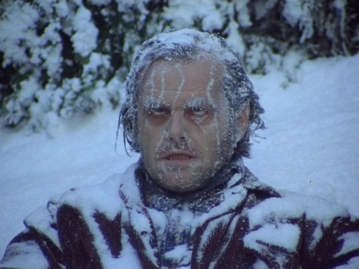 The Shining Frozen Jack Nicholson Movie Screenshot Snow 1980 campierender appleuser
