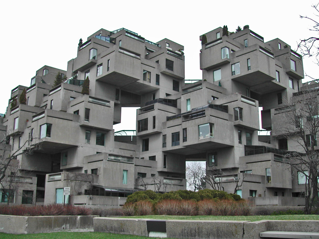 Habitat 67 montreal canada wohnungen architektur bullsh ft oh my god it 39 s the funky shit for Construction habitat