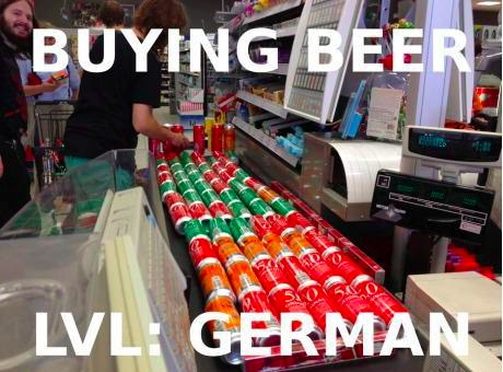 buying beer: lvl german Bier
