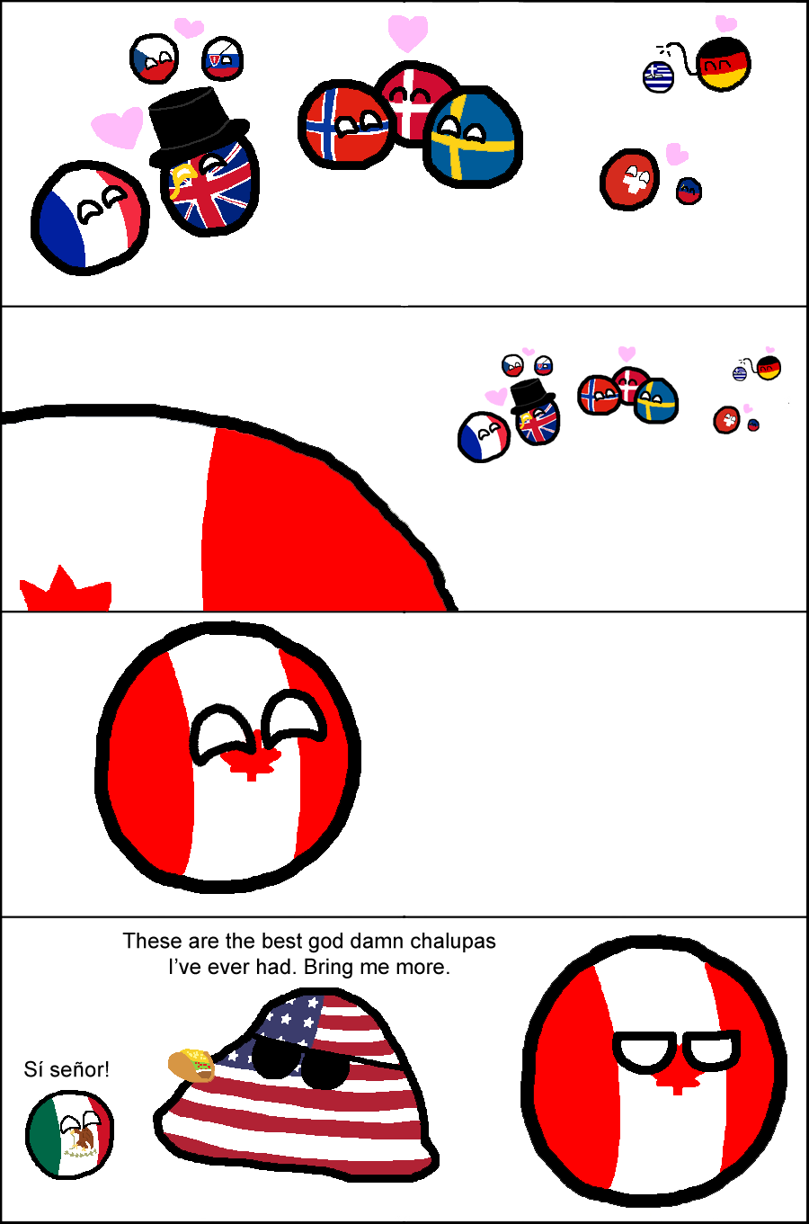 polandball Canada USA USA USA Mexico