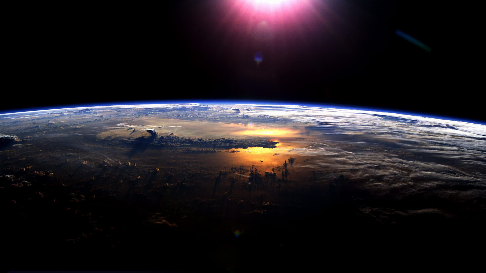 Earth World sun Aerospace Weltall Space Szenerie Surfacce Reflection Epic Shot Nature Colorful Scene Wallpaper