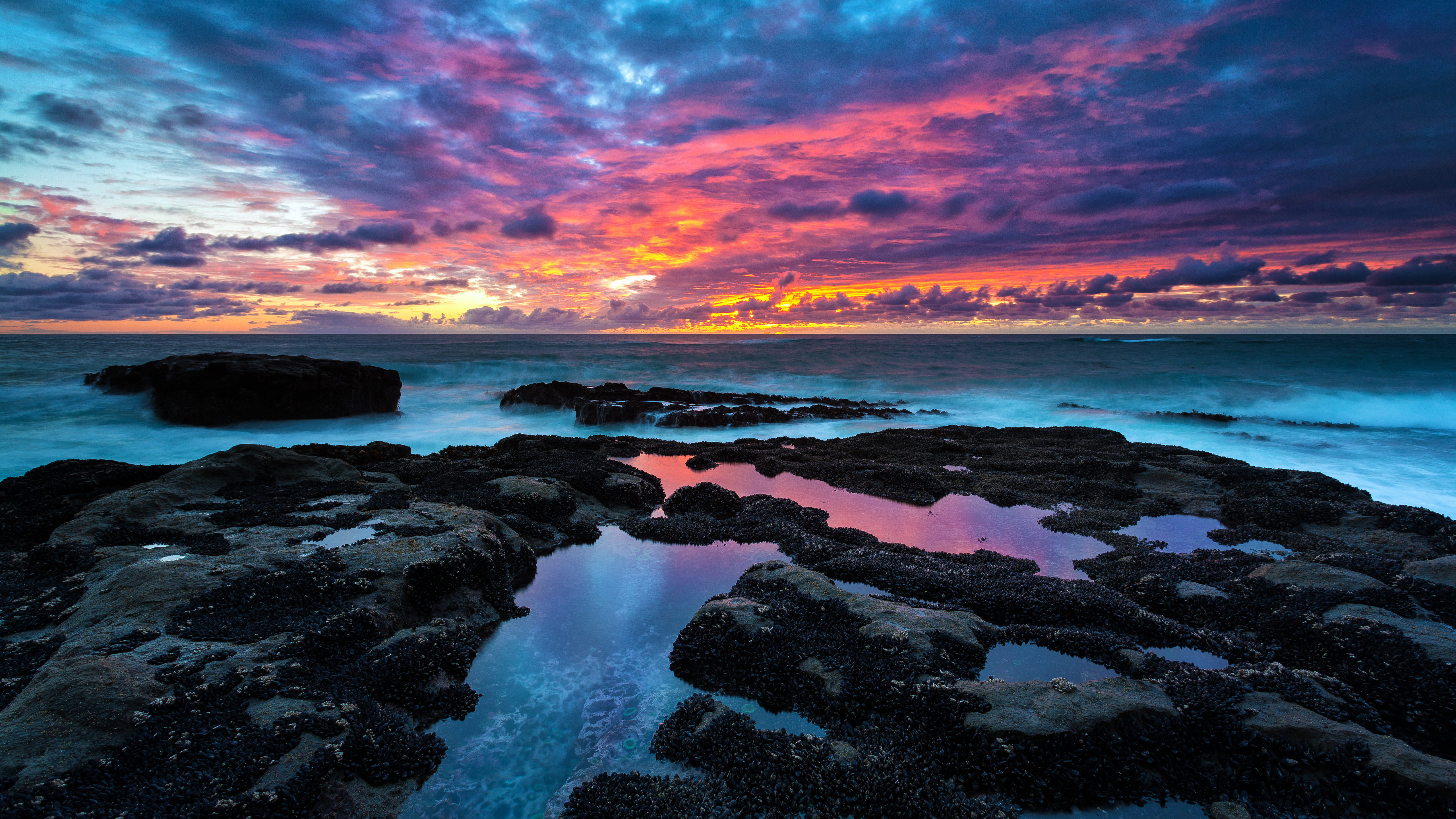 sunset sonnenuntergang meer ocean wallpaper - bullsh!ft ...