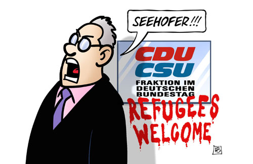 HARM BENGEN CARTOON SEEHÖFER REFUGEES Flüchtlinge
