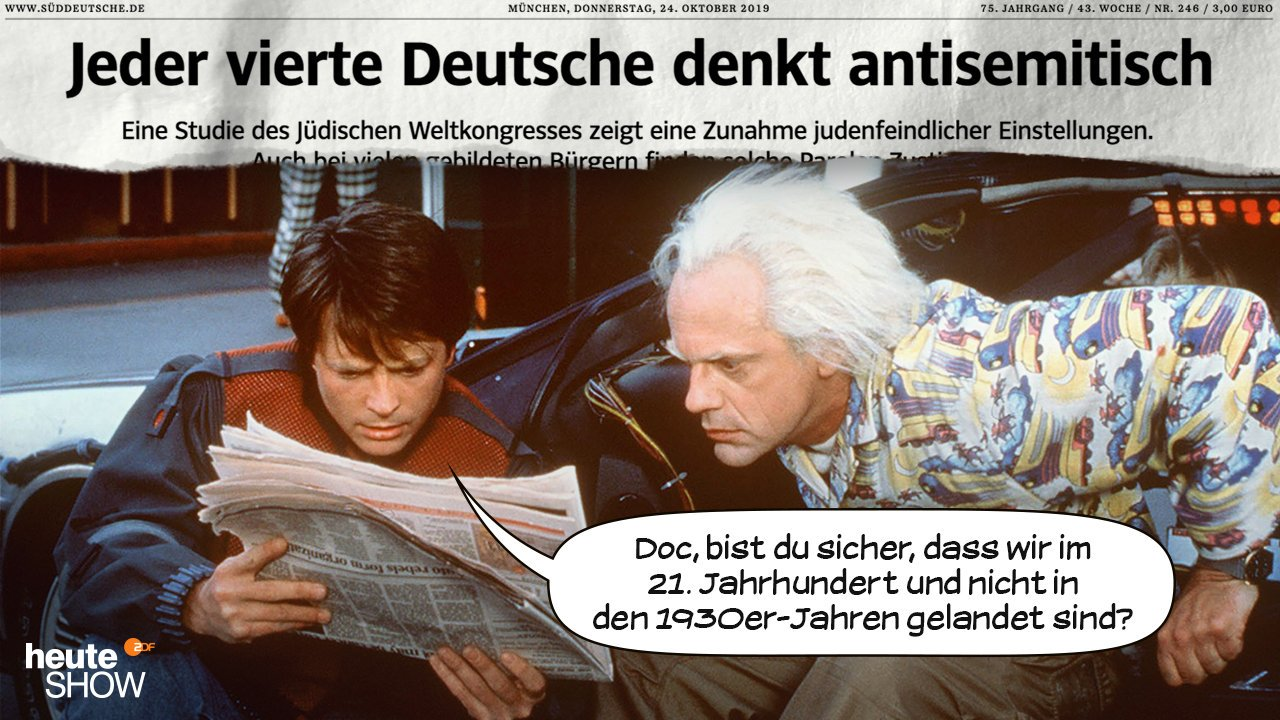 heute-show satire ... marty doc Antisemitismus = Judenhass #Vollverblödung
