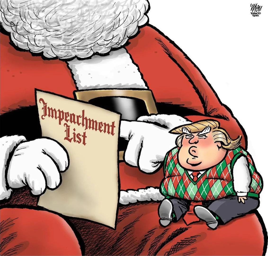 moudakis CARTOON #FUCKTATD TRUMP #impeachment list santa baby fucktard clown #magarine #fck nzs